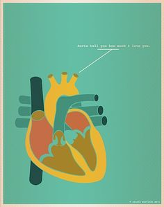 """Illustration (series) for """"Nerds In Love""""   Science puns and great art...awesome!"""