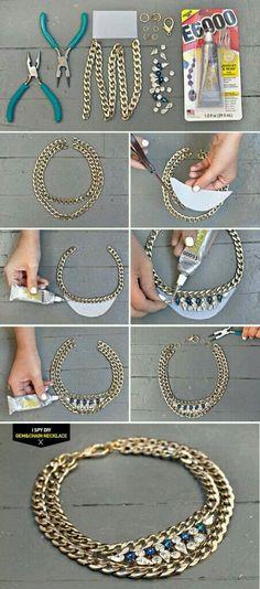 Idea per creare una collana semplice, ma d'effetto!
