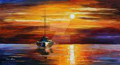 Sea Shadows by Leonid Afremov by Leonidafremov.deviantart.com on @DeviantArt