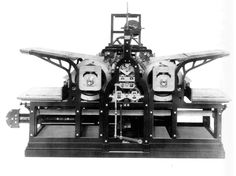 #DidYouKnow: Two ideas altered the design of printing press radically: First, the use of steam power for running the machinery, and second the replacement of the printing flatbed with the rotary motion of cylinders. Both elements were for the first time successfully implemented by the German printer Friedrich Koenig in a series of press designs devised between 1802 and 1818.