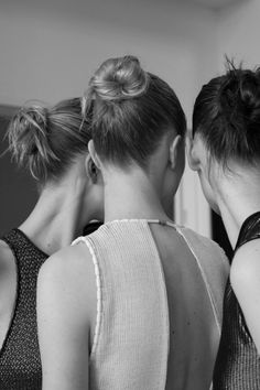 Modern Elegance - chic dresses & high buns // Backstage at Calvin Klein Spring 2015