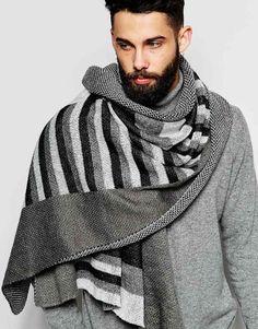 ASOS Blanket Scarf In Block Stripe