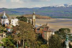 Port Meirion Off here in Sept for Festival Port Meirion, Cymru, North Wales, Prisoner, Big Ben, Adventure Travel, Buildings, Art Deco, Number