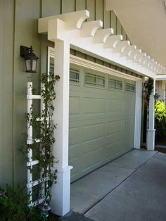 Garage door trellis love it!