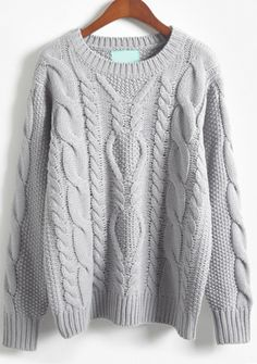Store Gray Lengthy Sleeve Batwing Cable Knit Sweater on-line. Sheinside affords Gray Lengthy Sleeve Batwing Cable Knit Sweater & extra to suit your modern wants. Knit Fashion, Sweater Fashion, Sweater Outfits, Fashion Wear, Fashion Fall, Style Fashion, Fashion Women, Men Sweater, Fashion Design
