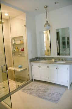 The best part of this bathroom; all the bumble and bumble hair products with a litte serie expert and kerastase mixed in