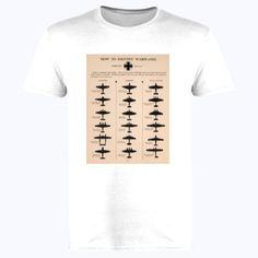 Identifying Warplanes Great Britain - Softstyle™ adult ringspun t-shirt Fou Tees Design Show, Funny Tshirts, Shirt Designs, Silhouette, War, Japan, Popular, Printed, Hoodies