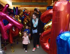 What happens when you inflate 130 alphabet balloons for the grand re-opening of a library? Awesomeness is what happens.