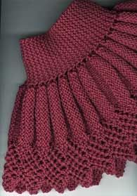 Neck Warmer / collar-down start to sweater.