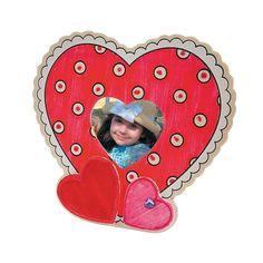 DIY Valentine Picture Frame Craft Kit - OrientalTrading.com