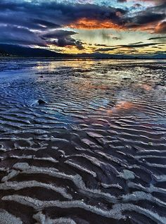 Crazy Norwegian Sunset on a Muddy Beach... #Beautiful #Places #Photography