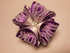 Бант из атласных лент 3D МК. DIY Beautiful bow of satin ribbons