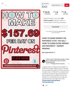 Earn money From Home Ideas - - - Earn money From Home Products - Make Money Today, Ways To Earn Money, Earn Money From Home, Make Money Fast, Earn Money Online, Online Earning, Work From Home Opportunities, Work From Home Jobs, Make Money From Pinterest