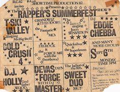 Old School Hip Hop party flyer