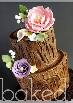 tree stump naked cake - Google Search