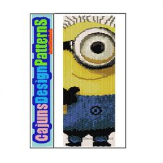 MINION 3 Like Despicable Me Peyote2 by CajunsDesignPatternS, $4.50