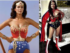Full Wonder Woman Costume WITH Cape Tiara Cuffs Corset by pinkpurr