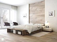 Holzwand selber machen-DIY Kopfende
