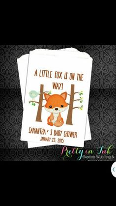 I love these little foxes for Audri, so freakin cute!!