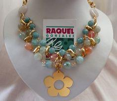 Collar estilo Babero Verde Aqua