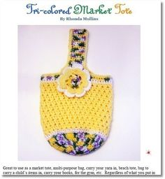 Market Tote you can crochet for yourself and others.