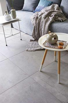 vtwonen tegels by Douglas & Jones - Douglas & Jones Best Flooring, Grey Flooring, Flooring Options, Kitchen Flooring, Happy New Home, Moving House, Home And Deco, Industrial, Inspired Homes