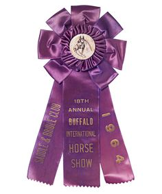 vintage horse show ribbons - recycled as wall art. great idea when tastefully done! 1964 Buffalo International Horse Show Old Trophies, Horse Show Ribbons, Barn Parties, Ribbon Rosettes, Hounds Tooth, Vintage Horse, Horse Saddles, Show Horses, Home Decor Trends