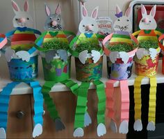 Easter handicrafted bunnies- Elenas' Chalkiadaki students
