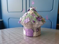 book folded fairy house