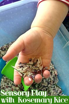 Sensory Play with Rosemary Rice