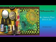 Dylusions Paint Techniques | 15 EASY ways to use Dylusions Paint in your Mixed Media Art Journal - YouTube