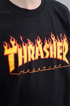 bbe9bbf1f90b Thrasher Magazine Flame White Medium TShirt     Details can be found ...