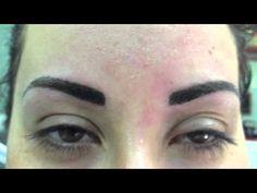 Permanent make-up. Sopracciglia realistica - YouTube