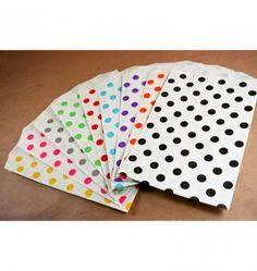 Medium Bitty Bags Polka Dots 5x7.5