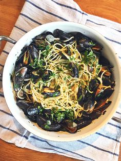 Culy Homemade: een enorme pan spaghetti met mosselen