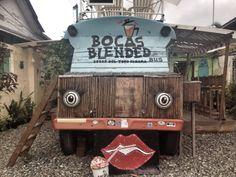 Very cool smoothie bus in Bocas del Toro