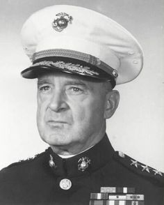 Alexander Archer Vandegrift (March 13, 1887 - May 8, 1973) was a general in the United States Marine Corps. He commanded the 1st Marine Division to victory in the Battle of Guadalcanal; for his actions at Guadalcanal, he was awarded the Medal of Honor. He later served as the 18th Commandant of the Marine Corps; and was the first Marine to hold the rank of four-star general while on active duty. American and Marine Hero!
