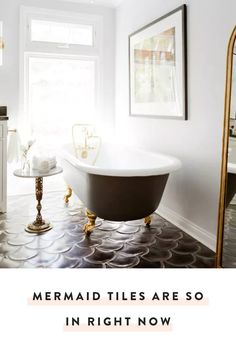 Mermaid tiles are the latest playful craze and they're actually incredibly chic. — via @PureWow