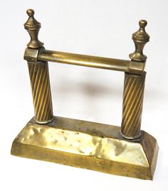Victorian Brass Hot Poker Rest Fireside Tool Rest by Yonks on Etsy, $36.00
