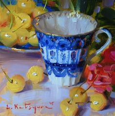 Image result for teacup miniature paintings