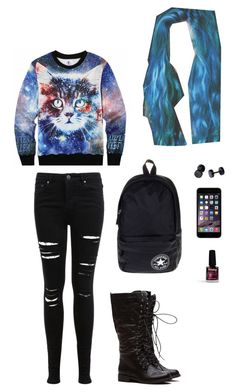"""""""Untitled #5426"""" by northamster ❤ liked on Polyvore featuring Limedrop, Miss Selfridge and Converse"""