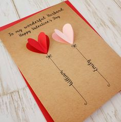 Personalised Valentine's Day Card – Valentinstag Valentines Design, Valentine Day Cards, Valentine Crafts, Diy Gifts For Boyfriend, Boyfriend Messages, Diy Cards For Girlfriend, Scrapbook Ideas For Boyfriend, Diy Birthday Card For Boyfriend, Boyfriend Notes