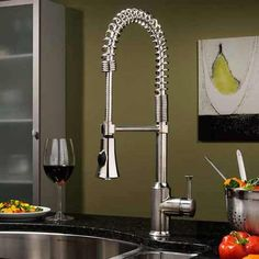 Buy the American Standard Polished Chrome Direct. Shop for the American Standard Polished Chrome Pekoe Semi-Professional Pre-Rinse Kitchen Faucet and save. Best Kitchen Faucets, Kitchen Faucet Reviews, Kitchen And Bath, Bathroom Faucets, Sinks, Stainless Steel Kitchen Faucet, Gold Kitchen, Sink Taps, Kitchen Hardware