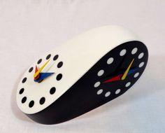 Morandini double dial black & white modernist rosenthal table clock. Sold on ebay 2/2/15 $122.50