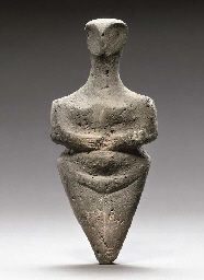 A EUROPEAN NEOLITHIC POTTERY STEATOPYGOUS IDOL