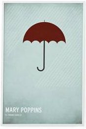 Minimalist Mary Poppins poster by Christian Jackson