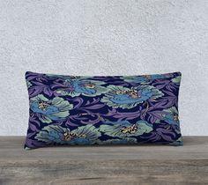 William Morris Floral Textile 24 X 12