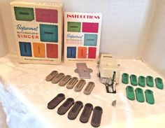 SINGER Professional BUTTONHOLER Slant Needle Zig-Zag Sewing Machines 102880 #Singer