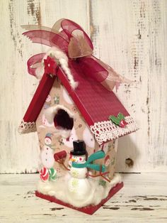GRANDMA'S House for Christmas Vintage Birdhouse Ornament Decoration Gift | Birdhouse Gift Gallery