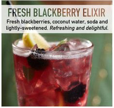 primalkitchen : Spotted via #Bonefishgrill: Blackberry Elixir #cocktail. Coco h2o, blackb's, soda, sweetened (